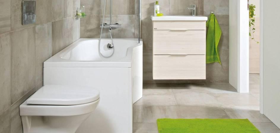 Řešení pro malé koupelny v panelovém domě